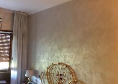 pittura moderna stanza letto appartamento prenestina roma
