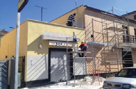tinteggiatura esterna facciata balconi roma