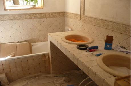 rifacimento bagno in muratura roma