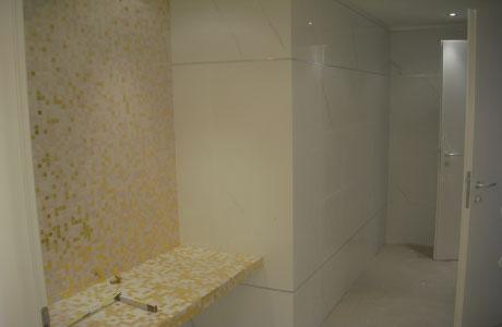 rifacimento pavimento e rivestimento bagno mosaico roma