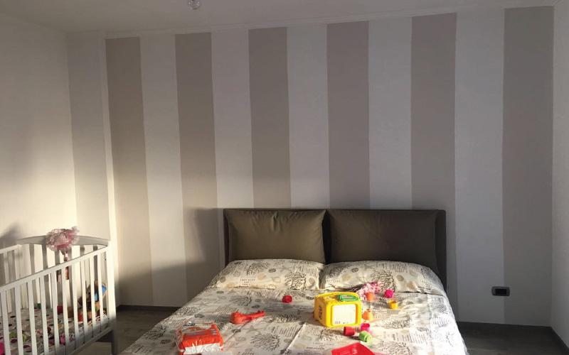 Ristrutturazione appartamento roma via appia nuova for Posa carta da parati