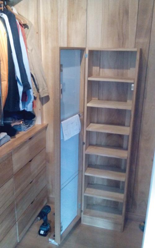 Diverse opere di falegnameria roma porte armadi soppalchi librerie - Scarpiera con specchio ...