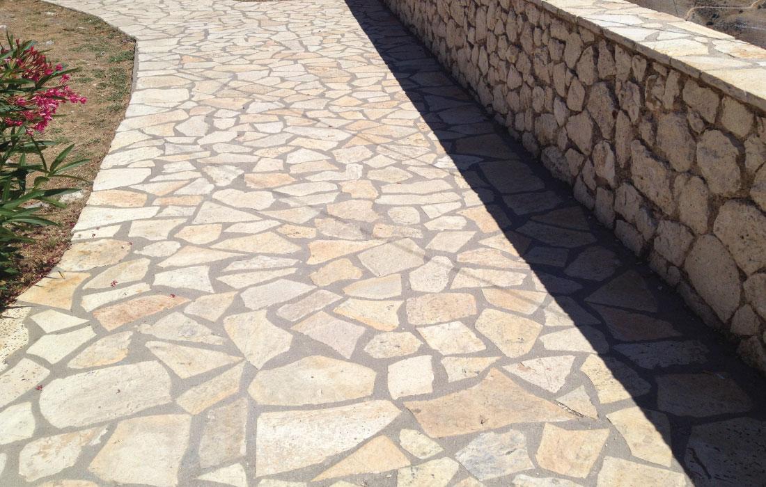 Posa porfido e cubetti, montaggio pavimento porfido Roma