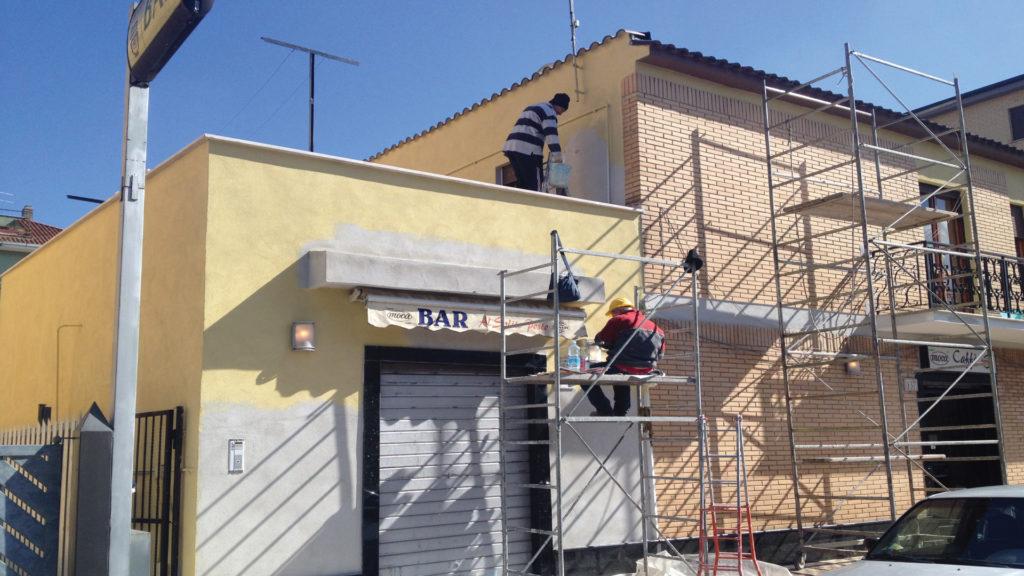ristrutturazione facciate, rifacimento facciata balconi roma