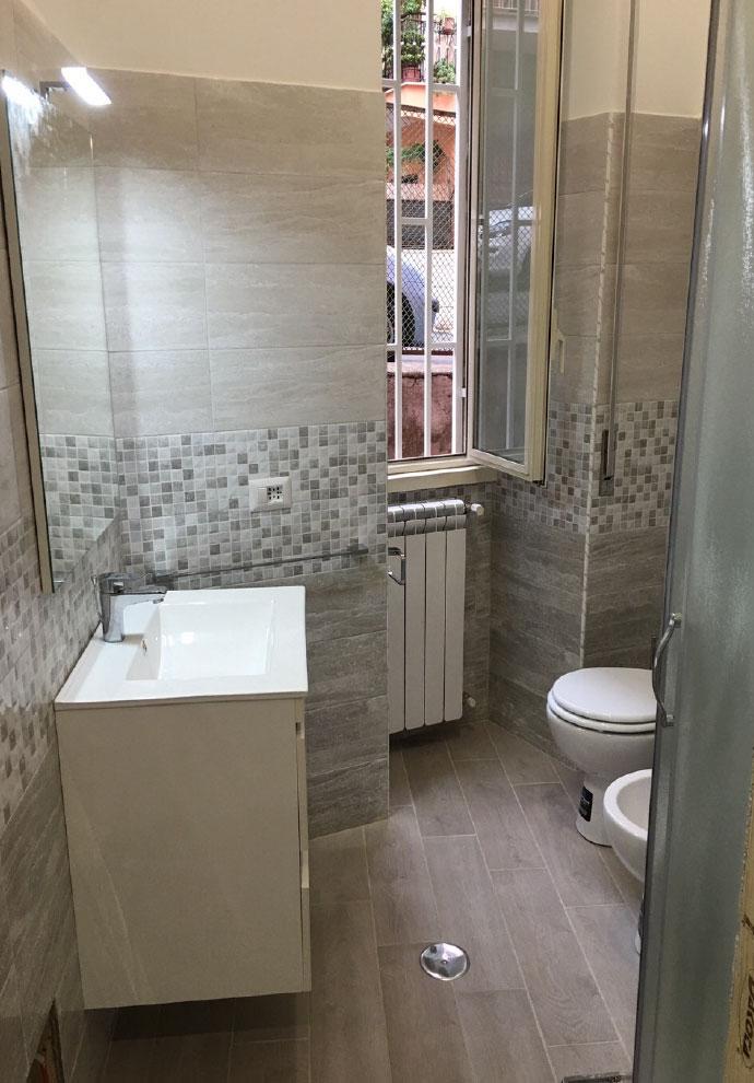 Foto lavori ristrutturazione casa roma imagini progetti - Costo rifacimento bagno piccolo ...