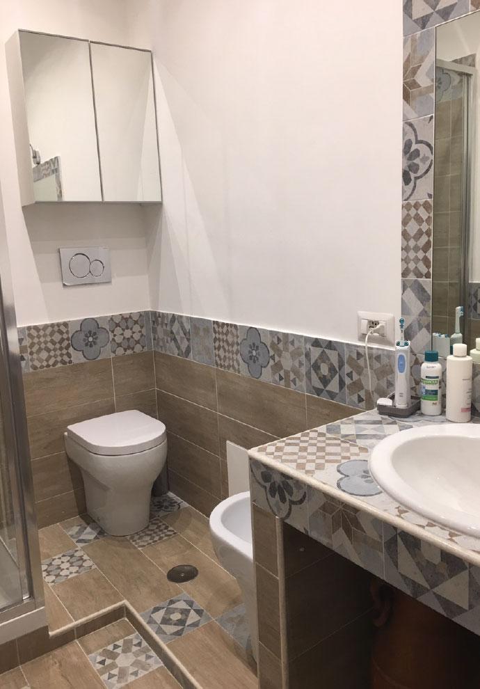 Foto lavori ristrutturazione casa roma imagini progetti for Rifacimento bagno costi