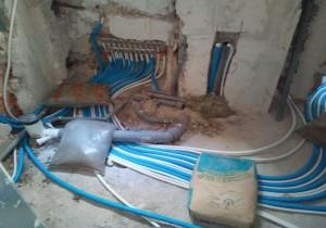 impianto idraulico bagno con centralina